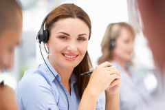 Businesswoman wearing headset Royalty Free Stock Photography