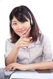 Businesswoman Wearing a Headset Stock Photos