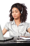 Businesswoman Wearing a Headset Stock Image