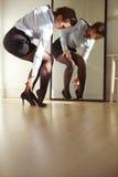 Businesswoman wearing high heels Royalty Free Stock Photos