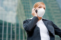 Businesswoman Wearing Mask Stock Photography