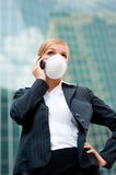 Businesswoman Wearing Mask Royalty Free Stock Photo