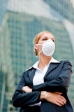 Businesswoman Wearing Mask Stock Image