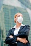 Businesswoman Wearing Mask Stock Image
