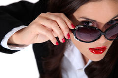 Businesswoman wearing sunglasses Stock Photography