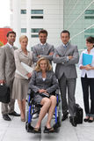 Businesswoman in a wheelchair Royalty Free Stock Photography