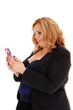 Businesswoman whit cellphone. Royalty Free Stock Photo