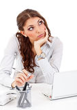 Businesswoman whit laptop Royalty Free Stock Photography