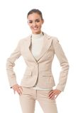 Businesswoman on white Stock Photo
