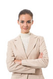 Businesswoman on white Stock Images