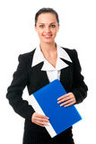 Businesswoman on white Royalty Free Stock Image