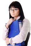 Businesswoman on white Stock Photos