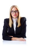 Businesswoman  on  white Stock Image