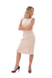 Businesswoman on white Royalty Free Stock Photos