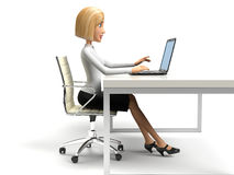 Businesswoman. On the white background Royalty Free Stock Image