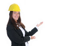 Businesswoman on white background Stock Photo