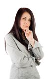 Businesswoman on white background Royalty Free Stock Images