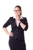 Businesswoman white background isolated Stock Photography