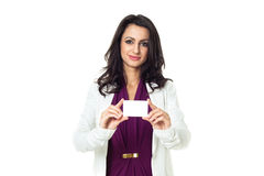 Businesswoman on white background. Businesswoman isolated  on a white background Royalty Free Stock Photography