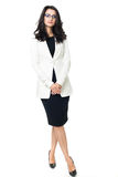 Businesswoman on white background Royalty Free Stock Photos