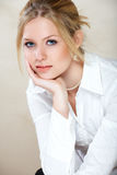 Businesswoman in white shirt Stock Photography