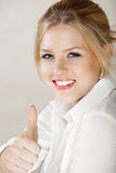 Businesswoman in white shirt Royalty Free Stock Images