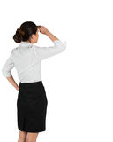 Businesswoman in white shirt looking ahead Royalty Free Stock Image