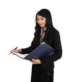 Businesswoman who are working Stock Photo