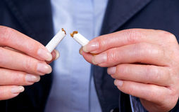 Giving up smoking Stock Photography