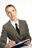 Businesswoman wih personal Royalty Free Stock Photography