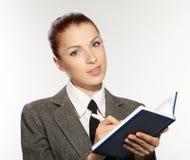 Businesswoman wih personal organizer Stock Photos