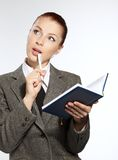 Businesswoman wih personal organizer Stock Images