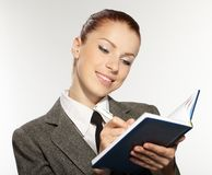 Businesswoman wih personal organizer Royalty Free Stock Photos