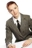 Businesswoman wih personal organizer Stock Photography