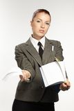 Businesswoman wih personal organizer Royalty Free Stock Image