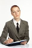 Businesswoman wih personal organizer Royalty Free Stock Photography