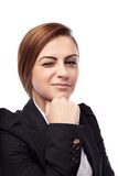 Businesswoman winking Royalty Free Stock Image