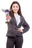 Businesswoman winner Royalty Free Stock Photos