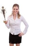 Businesswoman winning Royalty Free Stock Image