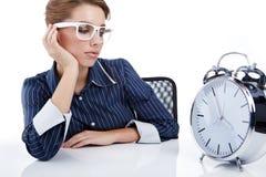 Free Businesswoman With A Big Clock Stock Photos - 16402933