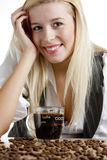 Businesswoman With A Cup Of Coffee Royalty Free Stock Image
