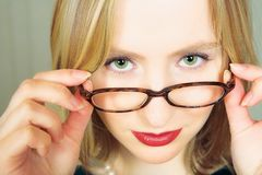 Businesswoman With Glasses Stock Photography