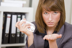 Businesswoman With Pills Royalty Free Stock Photos