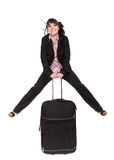 Businesswoman With Suitcase Royalty Free Stock Image