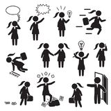 Businesswoman and woman working in business icon set. Vector. Eps10 Stock Photo
