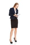 Businesswoman wondering about project Royalty Free Stock Image