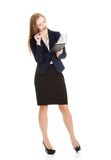 Businesswoman wondering about project Royalty Free Stock Photos