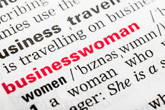 Businesswoman Word Definition Stock Photos