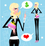 Businesswoman work Royalty Free Stock Photos