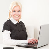 Businesswoman at work Stock Image